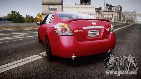 Nissan Altima 3.5 SE pour GTA 4 Vue arrière de la gauche