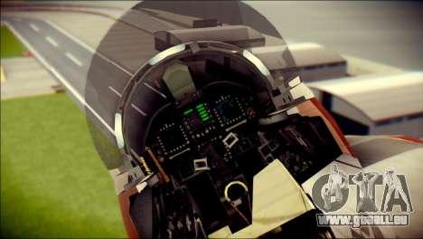F-22 Raptor Starscream pour GTA San Andreas vue arrière