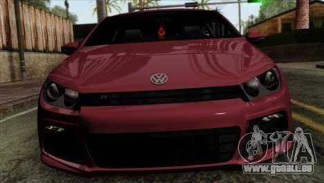 Volkswagen Scirocco R pour GTA San Andreas vue arrière