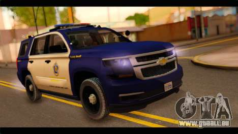 Chevrolet Suburban 2015 BCSD Sheriff für GTA San Andreas