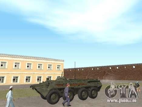 BTR-80 Avant pour GTA San Andreas laissé vue