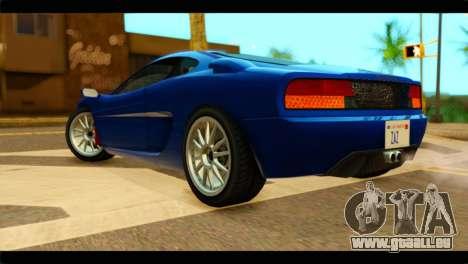 GTA 5 Grotti Turismo pour GTA San Andreas laissé vue