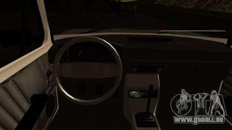 Fiat 128 pour GTA San Andreas vue intérieure