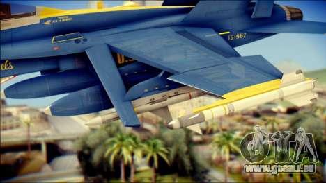 FA-18D Hornet NASA pour GTA San Andreas vue de droite