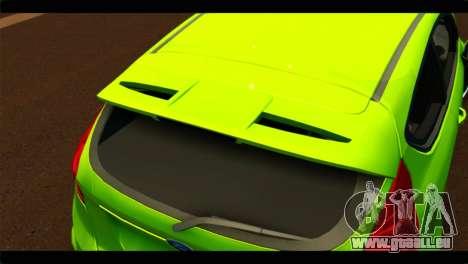 Ford Fiesta für GTA San Andreas Rückansicht