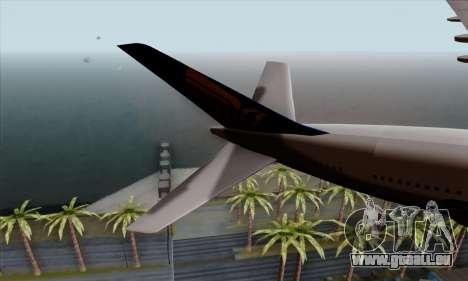 Airbus A380-800 Singapore Airline für GTA San Andreas zurück linke Ansicht