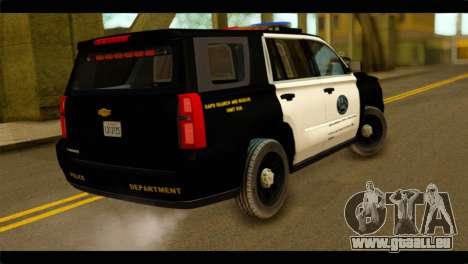Chevrolet Suburban 2015 SAPD pour GTA San Andreas laissé vue