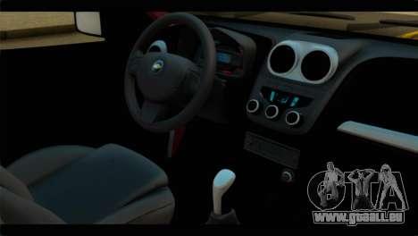 Chevrolet Celta VHC 1.0 pour GTA San Andreas vue de droite