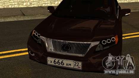 Lexus RX450h für GTA San Andreas Seitenansicht