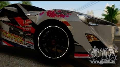 Toyota GT86 Itasha pour GTA San Andreas vue arrière