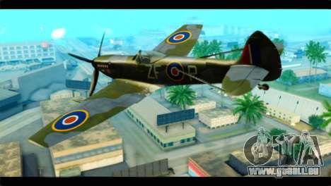 Supermarine Spitfire F MK XVI 318 SQ für GTA San Andreas linke Ansicht