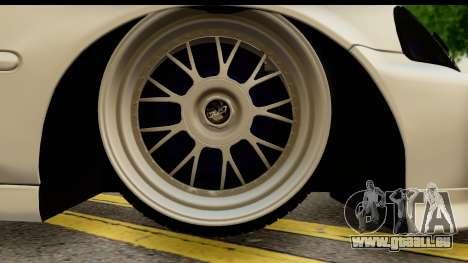 Honda Civic Si Coupe für GTA San Andreas Rückansicht