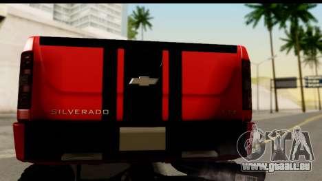 Chevrolet Silverado OffRoad pour GTA San Andreas vue de droite