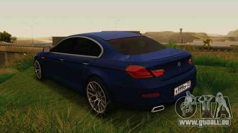 BMW 6 Series Gran Coupe 2014 pour GTA San Andreas laissé vue