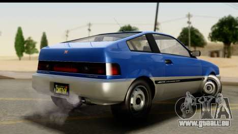 GTA 5 Dinka Blista Compact IVF pour GTA San Andreas laissé vue