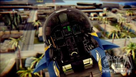 FA-18D Hornet NASA pour GTA San Andreas vue arrière