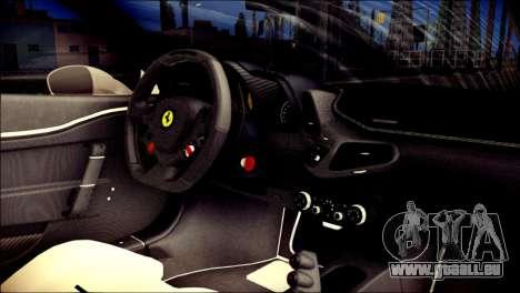Ferrari 458 Speciale 2015 pour GTA San Andreas vue de droite