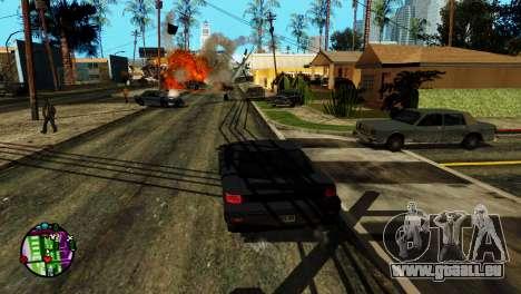 Transport V2 au lieu de balles pour GTA San Andreas cinquième écran