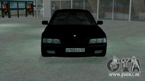 BMW 750i e38 pour GTA San Andreas vue intérieure