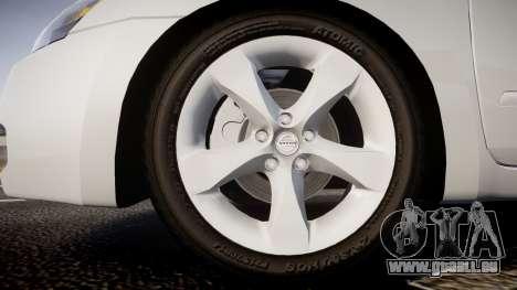 Nissan Altima 3.5 SE pour GTA 4 Vue arrière