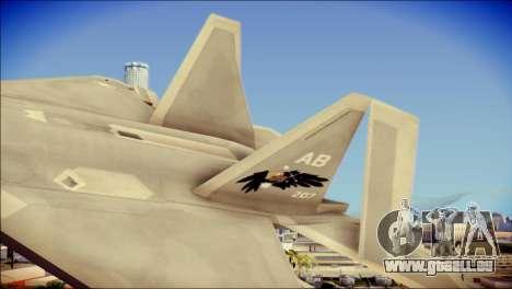 FA-18D Hornet Blue Angels pour GTA San Andreas sur la vue arrière gauche