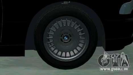 BMW 750i e38 pour GTA San Andreas vue de dessus