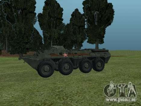 BTR-80 Avant pour GTA San Andreas vue arrière