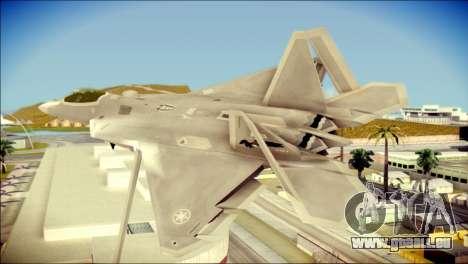 FA-18D Hornet Blue Angels pour GTA San Andreas laissé vue