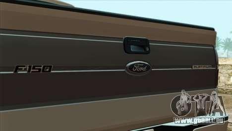 Ford F-150 Platinum 2013 4X4 Offroad pour GTA San Andreas vue arrière