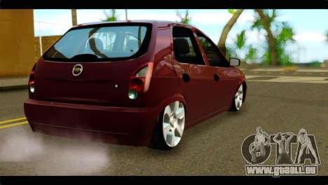 Chevrolet Celta VHC 1.0 pour GTA San Andreas laissé vue