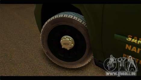 Chevrolet Suburban 2015 SANG für GTA San Andreas zurück linke Ansicht