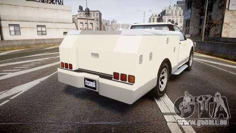 GTA V Vapid Utility Truck für GTA 4 hinten links Ansicht