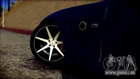 BMW Z4M Coupe 2008 pour GTA San Andreas sur la vue arrière gauche