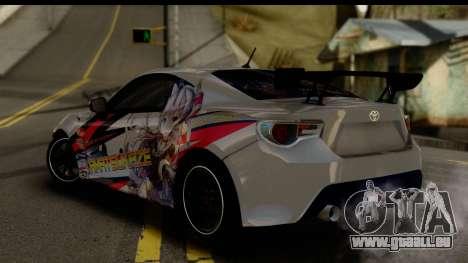 Toyota GT86 Itasha pour GTA San Andreas laissé vue