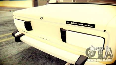 VAZ 2106 Stoke für GTA San Andreas Rückansicht