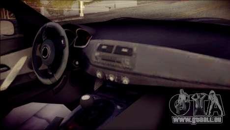 BMW Z4M Coupe 2008 für GTA San Andreas rechten Ansicht