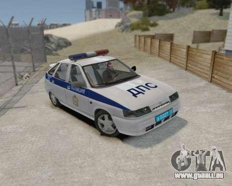 VAZ 2112 DPS pour GTA 4 Vue arrière de la gauche
