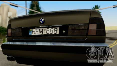 BMW 525i E34 pour GTA San Andreas vue de droite