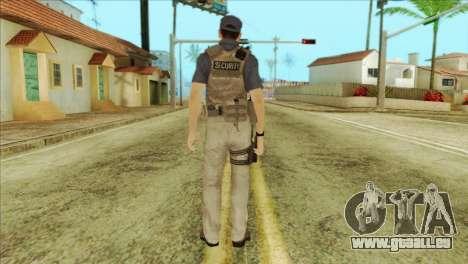 COD Advanced Warfare Jon Bernthal Security Guard pour GTA San Andreas deuxième écran