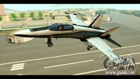 McDonnell Douglas FA-18 HARV v2 für GTA San Andreas