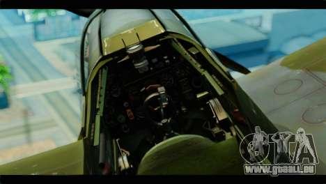 Supermarine Spitfire F MK XVI 318 SQ pour GTA San Andreas vue de droite
