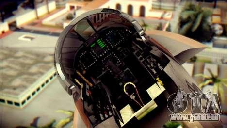 F-18D NSAWC für GTA San Andreas Rückansicht