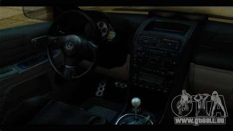 Toyota Altezza Police für GTA San Andreas rechten Ansicht