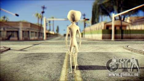 Gray Alien Skin Skin pour GTA San Andreas deuxième écran
