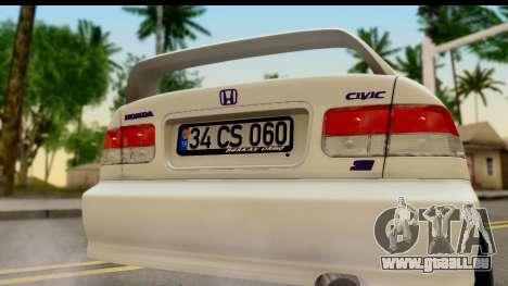 Honda Civic Si Coupe pour GTA San Andreas vue de droite