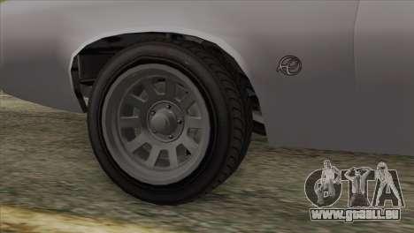 GTA 5 Declasse Stallion IVF für GTA San Andreas zurück linke Ansicht
