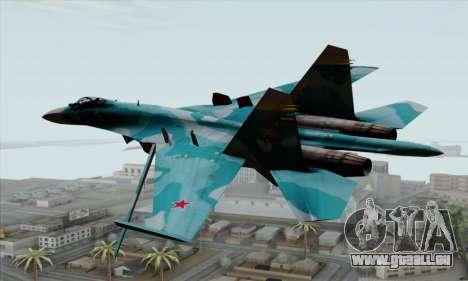 SU-27 Flanker A Warwolf Squadron für GTA San Andreas linke Ansicht