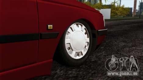 Peugeot 405 Pickup pour GTA San Andreas sur la vue arrière gauche