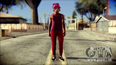 Skin Kawaiis GTA V Online v1 für GTA San Andreas