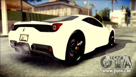 Ferrari 458 Speciale 2015 Stripe für GTA San Andreas linke Ansicht